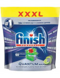 Detergent tablete pentru masina de spalat vase Finish Quantum Max, mere si lime, 60 bucati
