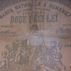 BANCNOTE ROMANESTI 20LEI 1906 RECONDITIONATA