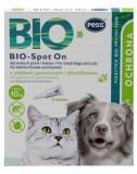 PESS BIO Spot-on picaturi protectie anti-capuse, purici pentru caini mici si pisici 4x1 g cu ulei de muscata si dimeticona