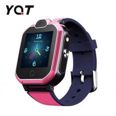 Ceas Smartwatch Pentru Copii YQT T6 cu Functie Telefon, Apel video, Localizare GPS, Istoric traseu, Apel de Monitorizare, Camera, Lanterna, Android, 4