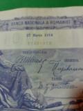 bancnote romanesti 100lei 1914