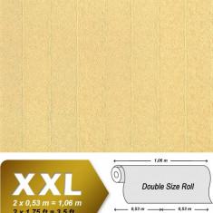 Tapet galben model unicolor cu finisaj luminat 952-22