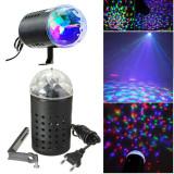 Lampă disco cu lumini led, rotativă