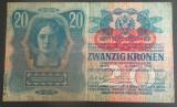 Bancnota ISTORICA 20 COROANE - AUSTRO-UNGARIA (AUSTRIA), anul 1913  *cod 189 A