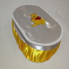 Cutie / cufar pentru trusou de botez Disney - WINNIE THE POOH