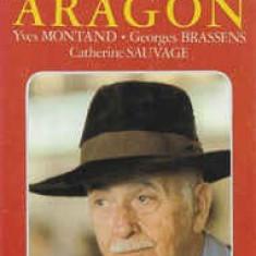 Caseta Aragon / Yves Montand - Georges Brassens - Catherine Sauvage, originala