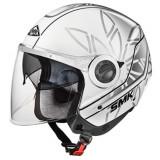 Cumpara ieftin Casca moto scuter SMK SWING ESSENCE GL162 culoarea argintiu alb, marimea L unisex