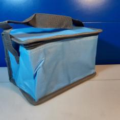 Geanta termoizolanta voiaj bleu, gri , 20 x 13 x 14 cm  /  C11