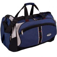 Geanta sport de voiaj, 60x29x32 cm, bleumarin/negru, 55 litri