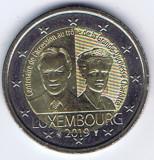 LUXEMBURG moneda 2 euro comemorativa 2019 - UNC, Europa, Cupru-Nichel