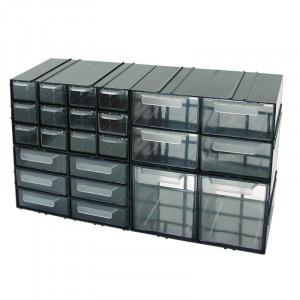 Dulap plastic diversificat Polonia, 230 x 125 x 140 mm, 12 sertare