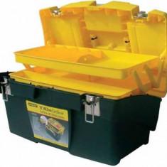 Cutie pentru unelte Stanley 1-92-911, 2 organizatoare, 2 tavi pliabile incuietoare metal