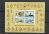 Prima aniversare de la eliberare,echipament militar ,embleme unitati  ,Falkland.
