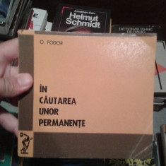 IN CAUTAREA UNO PERMANENTE-O.FODOR