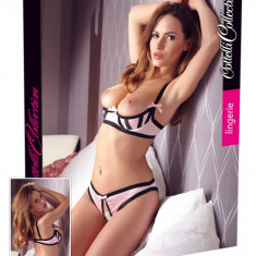Set Sutien Decupat Si Chilotei Decupati Rose 80B/M