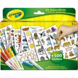 Jucarie Set abtibilde cu carioci Sticker Kit 5450 Crayola