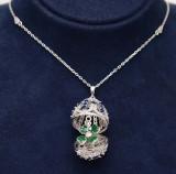 Cumpara ieftin Colier Cu Lantisor Din Argint -- FABERGE DIAMOND Blue--ARG299