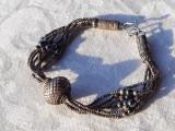 BRATARA argint TRIBALA vintage VECHE de efect SPLENDIDA patina MINUNATA rara