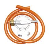 Set regulator de presiune, 10 x 5 x 4 cm, metal, furtun inclus, Portocaliu, General