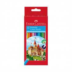 Creioane colorate 12 culori Faber Castell eco 120112