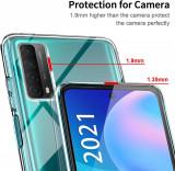 Husa transparenta cu protectie la camera Huawei P Smart 2021, Alt model telefon Huawei, Transparent, Silicon