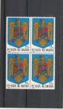 Romania ,Stema bloc de 4 , nr lista  1302.