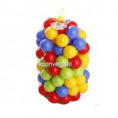 Set 50 Mingi de Plastic Colorate 7cm