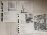 Pliante prezentare artisti Gabriel Kazinczy grafica si Romul Nutiu pictura arta