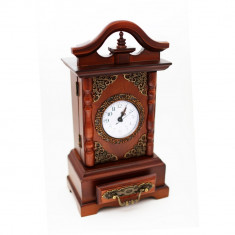 Ceas de masa retro lemn