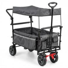 Waldbeck Easy Rider, cărucior cu acoperiș încărcare de până la 70 kg, gri