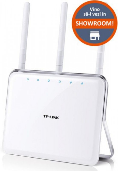Router Wireless TP-LINK Archer C8, AC1750, Gigabit, Dual Band, 3 antene detasabile
