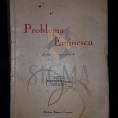 T. PAUNESCU-ULMU - PROBLEMA EMINESCU - STUDII SI INTERPRETARI, CRAIOVA 1938