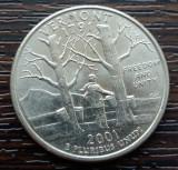 (M2384) MONEDA SUA - QUARTER DOLLAR 2001, LIT. P - VERMONT, America de Nord