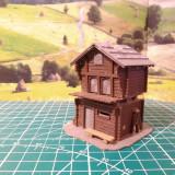 Accesorii diorama - set 6 casute scara HO 1:87