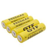 Acumulatori 18650 9900mah, 3.7v, culoare galbena, acumulatori pentru lanterna