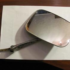PVM - Oglinda laterala auto veche mai mare / totul metal nichelat / functionala