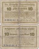 1915, 10 Kapeikas (LAT-19) - Mitau/Jelgava (Letonia)
