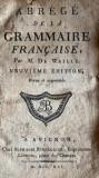 ABREGE DE LA GRAMMAIRE FRANCAISE par M.DE WAILLY /AVIGNON 1891...