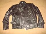 Geaca Motor/Moto/Rock/Rocker/model clasic, piele naturala, barbateasca/barbati