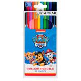 Set creioane colorate Starpak Paw Patrol, 12 culori