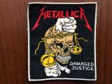 Metallica damage justice ecuson patch cauciucat fan muzica heavy metal hard rock