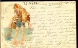 Carte postala ilustrata, Italia, Pescar din Liguria, circulata 1901
