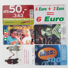 = LOT 36 - AUSTRIA - 6 CARTELE TELEFONICE =