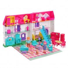 Casuta cu papusi Dreamy Dollhouse, 30 accesorii, multicolor