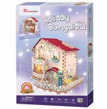 Puzzle 3D Led - Casa De Vacanta, 116 piese, CubicFun