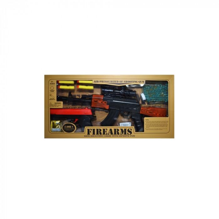 Pistol + pistol mitraliera cu bile