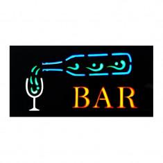 Panou reclama luminoasa, mesaj Bar