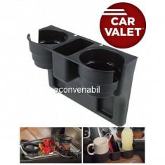 Suport depozitare auto pahare si accesorii Car Valet