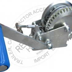 Troliu auto manual Realparts , sarcina maxima 545kg , cu cablu cu carlig 20m , Heavy Duty