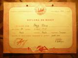Diploma de Merit - Liceul Mixt Resita 1953 , cl.IX